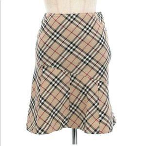 Burberry Brit London Checkers Plaid Skirt